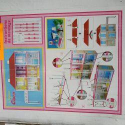 Maison de poupée en carton - la maison de clara