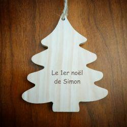 Sapin / étoile de noel en bois personnalisé