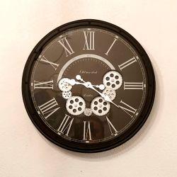 Horloge animée avec engrenage en mouvement