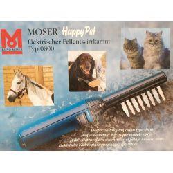 Peigne electrique de toilettage, démélage  pour animaux poils longs Moser happy pet