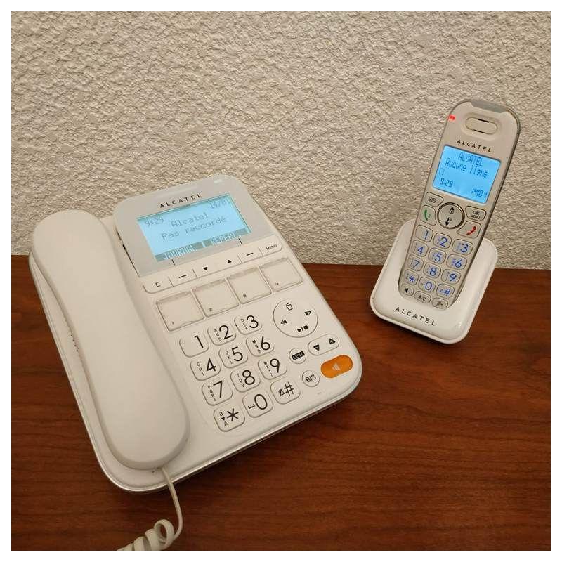 Telephone filaire senior touche jumbo Alcatel avec combiné sans fil complémentaire