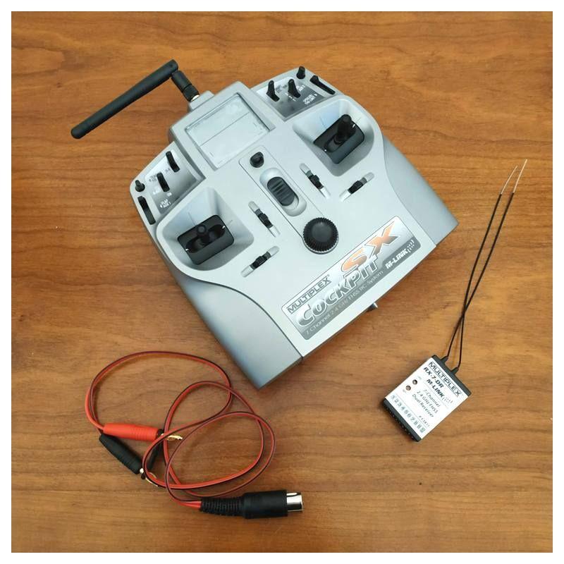 Radio-commande Emetteur Multiplex COCKPIT SX M-LINK avec Recepteur RX-7-DR (55811)
