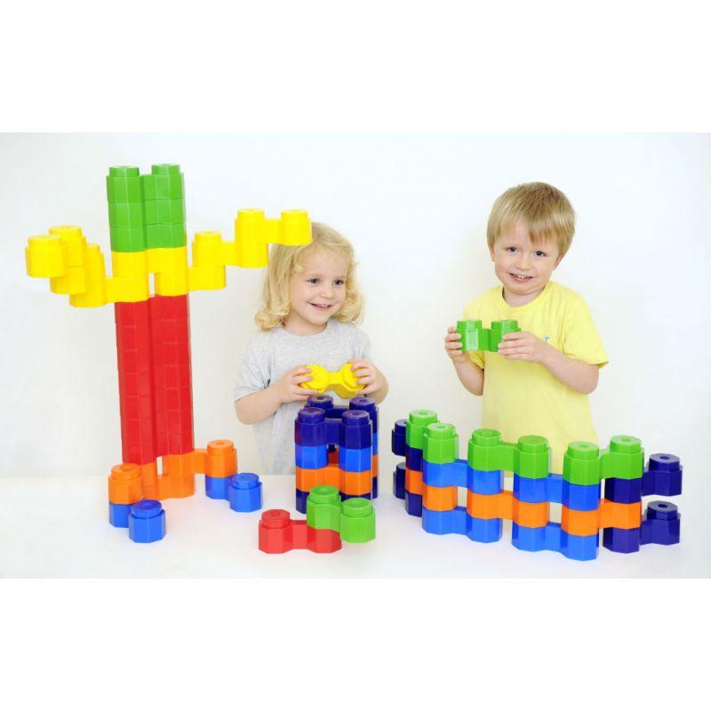 Jumbo double octogone - Pieces a assembler - Jeu de construction type Lego géant