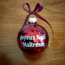 Boule de Noel personnalisée avec le texte de votre choix