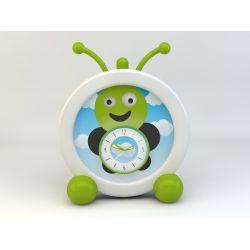 3- horloge enfant avec indicateur de reveil : la chenille