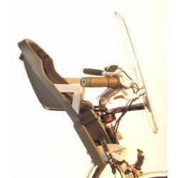Porte bébé pour vélo (qui se fixe à l'avant, au guidon)