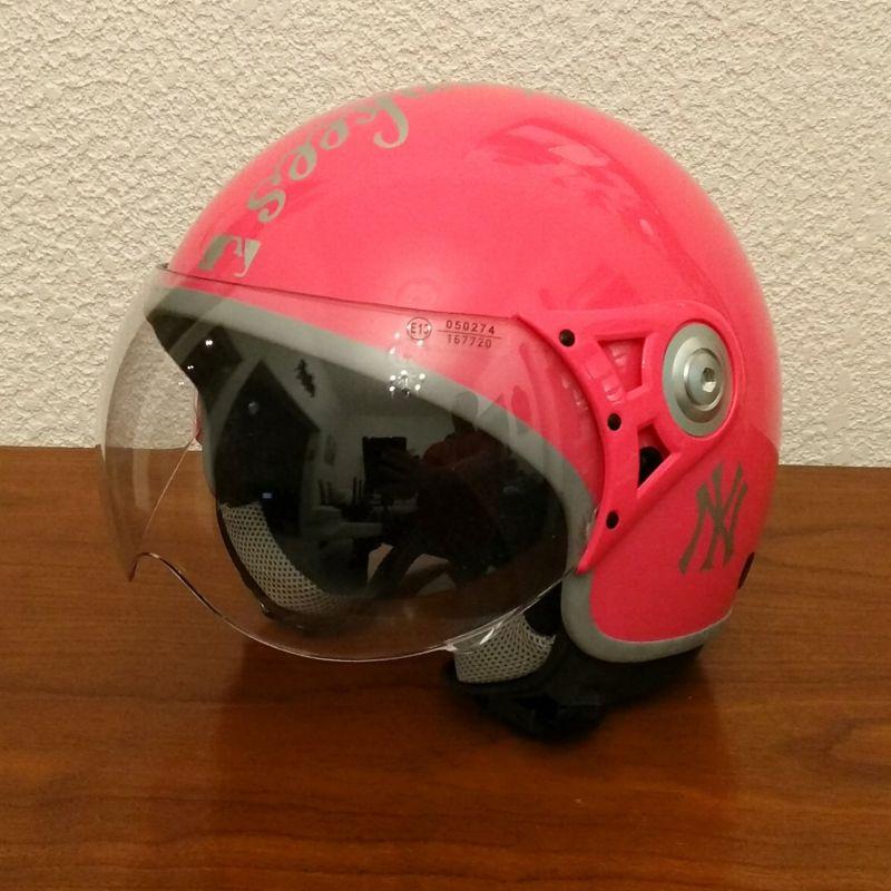 Casque Jet yankees rose pour moto Scooter xxl