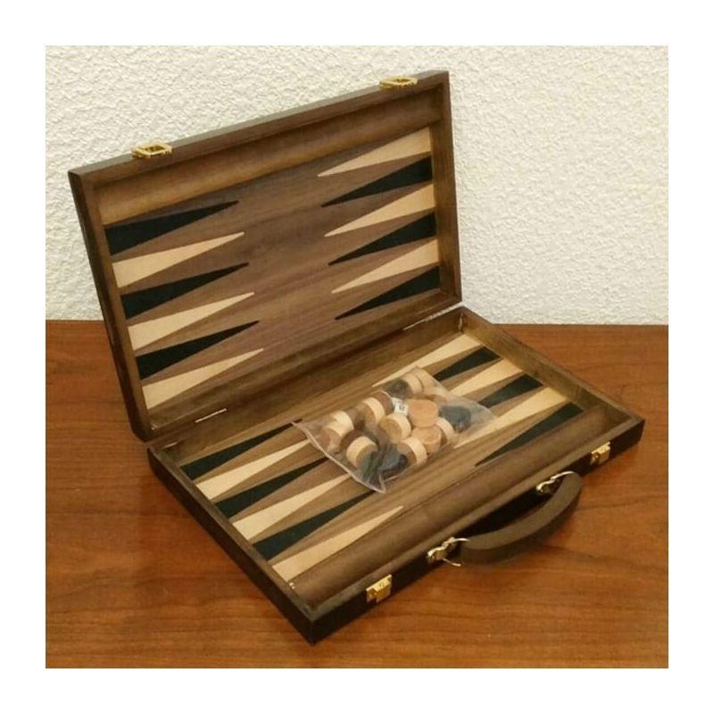 Jeu de backgammon en bois en malette