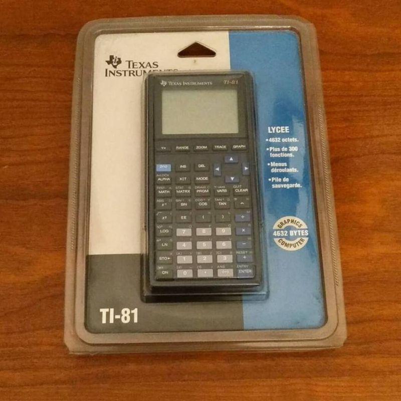 calculatrice scientifique texas  TI-81