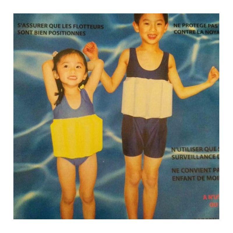Maillot de bain avec flotteur integré fille 3/5 ans