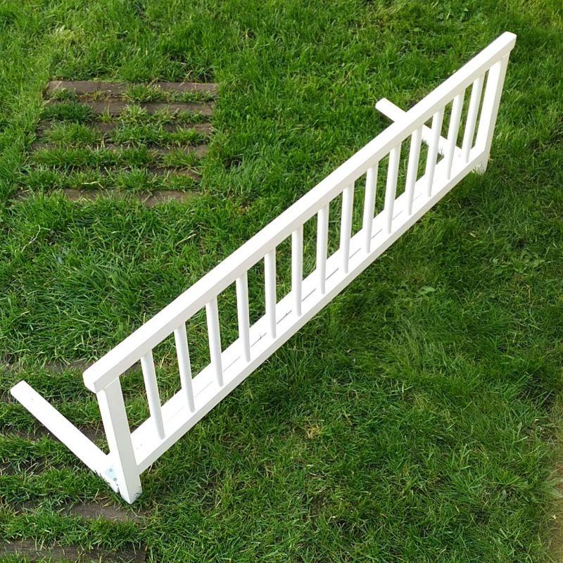 Barriere de lit en bois blanc