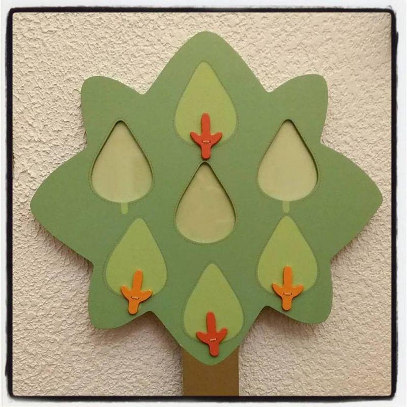 Pêle-mêle en forme d'arbre