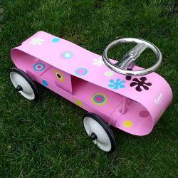Porteur enfant en métal de couleur rose - Baghera