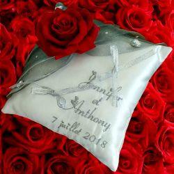 porte-alliances : la rose rouge (ou autre couleur)