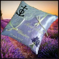 porte-alliances : le provencal (avec croix de camargue, bouquet de lavande ou autre)