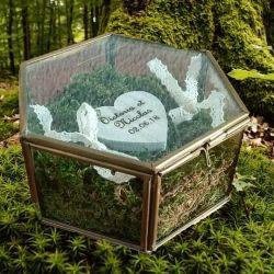 porte-alliances : la boite hexagonlale en verre