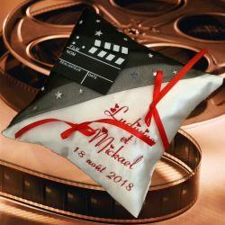 porte-alliances : le cinéma (police d'ecriture, couleur du texte et du voile au choix)
