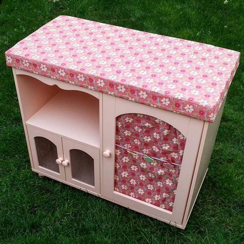 meuble coffre pour chambre de fille rose neuf