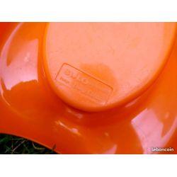 Pot bébé plastique  orange SULO année 70 -   Luigi Colani