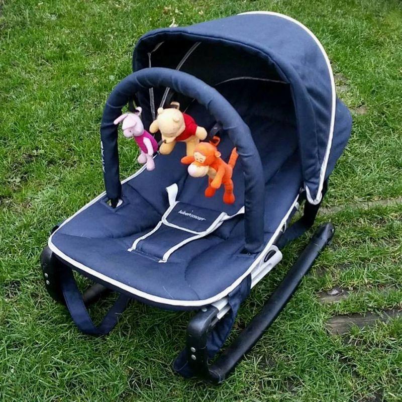 Transat pour bébé Aubert avec pare soleil et mobile