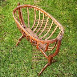 berceau en bois ancien rustique - antiquité