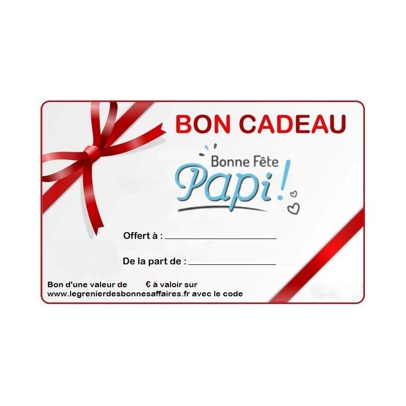Carte cadeau spécial fêtes des grand pères
