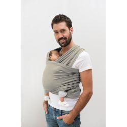 echarpe de portage tricot slen gris