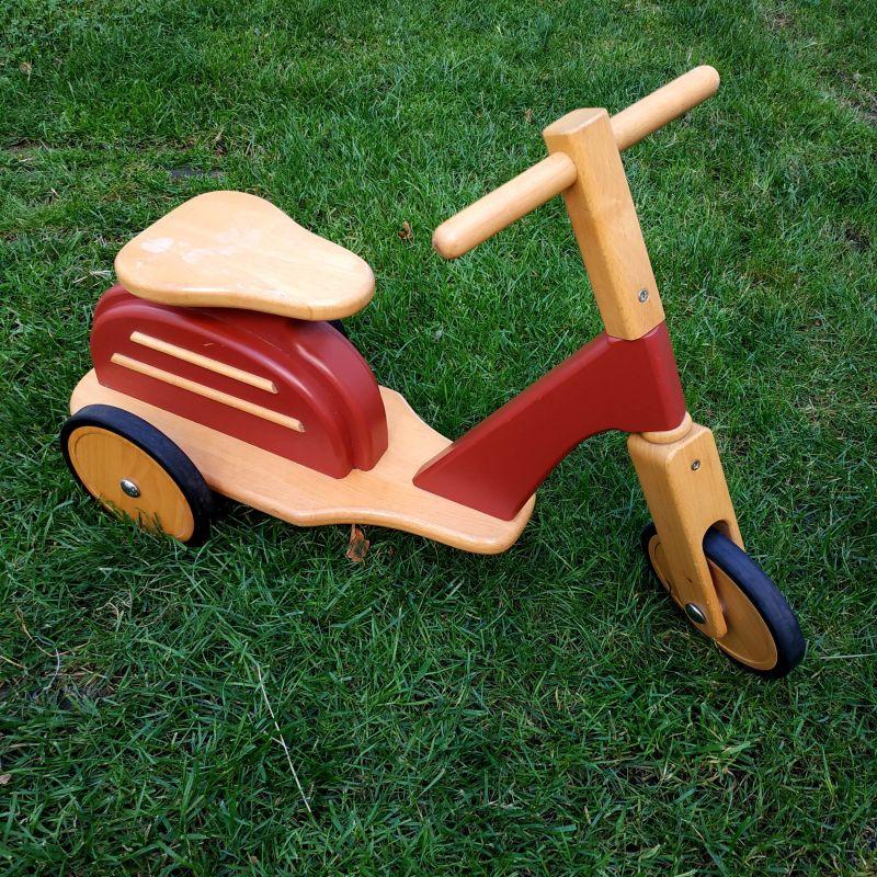 Trotinnette en bois - moulin roti (scooter)